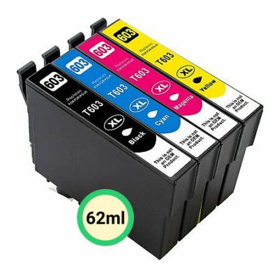 Epson 603XL Multipack 4-Farver Kompatibel Pakke 62ml Epson Expression Home XP-2100 | InkNu