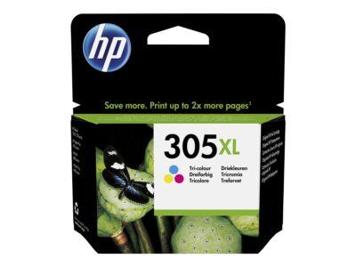 HP 305XL Farve (Cyan, Magenta, Gul) 200 sider HP DeskJet 2710 All-in-One | InkNu