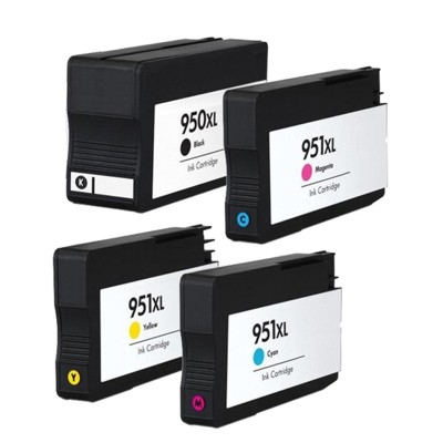 HP 950XL/951XL Kompatibel Multipack 4 stk – 153ml HP OfficeJet Pro 251 | InkNu