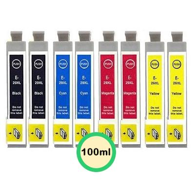 Epson 29XL Kompatibel 8 stk. Patronpakke – 100ml Epson Expression Home XP 352 | InkNu