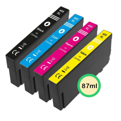 Epson 405XL Multipack 4-Farver Kompatibel Pakke 87ml Epson WorkForce Pro WF-3820DWF | InkNu