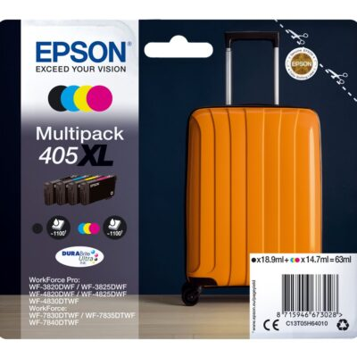 Epson 405XL Multipack 4-Farver Original Epson WorkForce Pro WF-3820DWF | InkNu