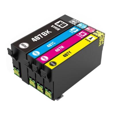 Epson 407XL Cyan Kompatibel Blækpatron Epson WorkForce Pro WF-4745DTWF | InkNu