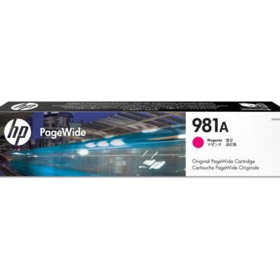 HP 981A Magenta Original Blækpatron – 6.000 Sider HP PageWide Color 556 | InkNu 2