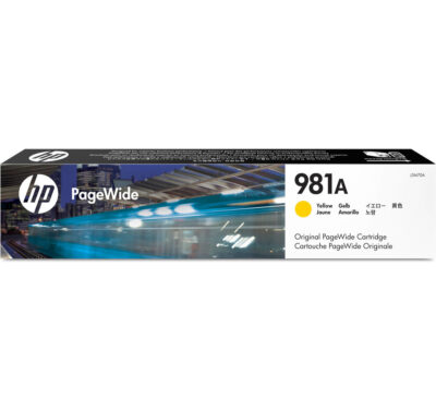 HP 981A Yellow Original Blækpatron – 6.000 Sider HP PageWide Color 556 | InkNu