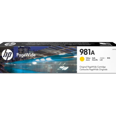 HP 981A Yellow Original Blækpatron – 6.000 Sider HP PageWide Color 556 | InkNu 2