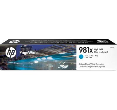 HP 981X Cyan Original Blækpatron – 10.000 Sider HP PageWide Color 556 | InkNu