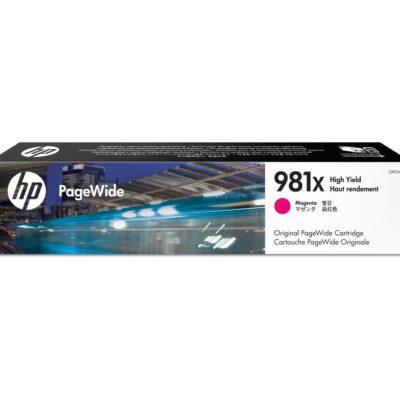HP 981X Magenta Original Blækpatron – 10.000 Sider HP PageWide Color 556 | InkNu 2