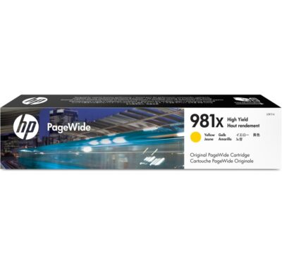 HP 981X Yellow Original Blækpatron – 10.000 Sider HP PageWide Color 556 | InkNu