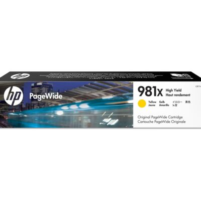 HP 981X Yellow Original Blækpatron – 10.000 Sider HP PageWide Color 556 | InkNu 2