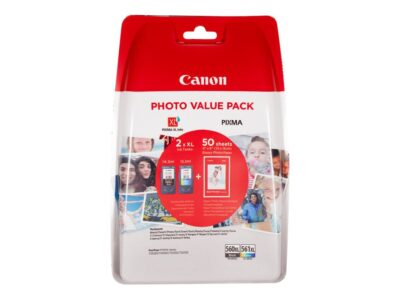 Canon PG 560XL/CL-561XL Photo Value Pack Smartphone Tilbehør | InkNu
