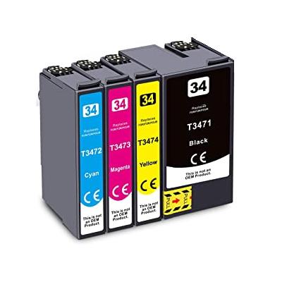 Epson 34XL Kompatibel 4-Farver Patronpakke – 75ml Epson Workforce Pro 3720 | InkNu