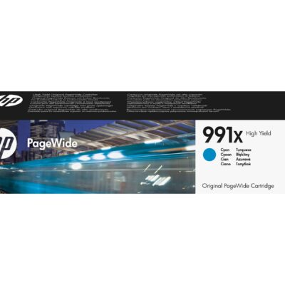 HP 991X Cyan Original Blækpatron 16.000 Sider HP PageWide Managed Color P 77740 | InkNu 2